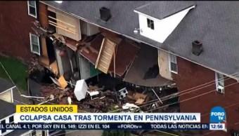 Colapsa casa en Pennsylvania por fuerte tormenta