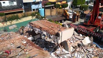 Colegio Rébsamen: continúan trabajos de remoción de escombro