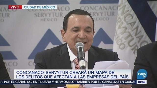 Concanaco Servitur presenta proyecto de mapa de delitos