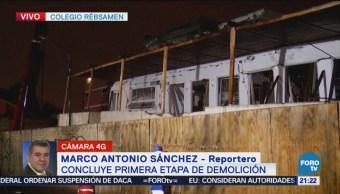 Concluye Primera Etapa De Demolición Colegio Rébsamen