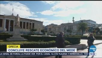 Concluye Rescate Económico Mede Grecia