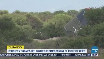 Concluyen Trabajos Campo Avión Aeroméxico Siniestrado Durango