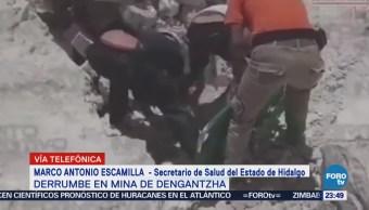 Continúan Labores Rescate Derrumbe Mina Hidalgo