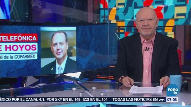 Coparmex: México aún negocia temas en el acuerdo comercial con Estados Unidos