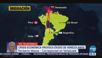 Crisis Económica Provoca Éxodo Venezolanos