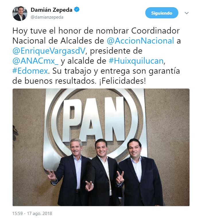 Consulta anunciada por AMLO es una burla, dice Damián Zepeda