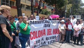 Damnificados de la CDMX denuncian abandono de autoridades