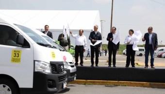 Del Mazo pone en marcha videovigilancia en transporte público mexiquense