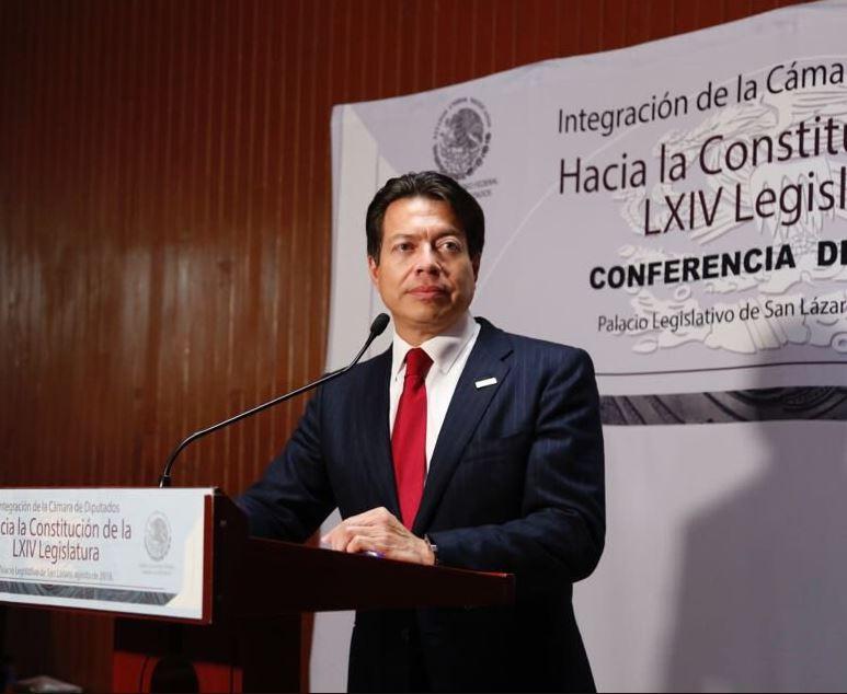 Mario Delgado dice que diputados de Morena dialogarán