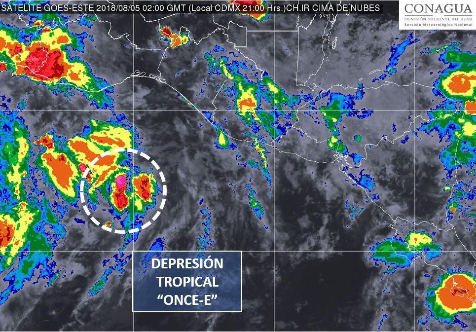 Provocará 'Ileana' lluvias y hasta granizadas en el país