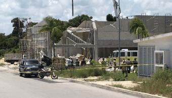 Se registra derrumbe en construcción de Puerto Morelos, Quintana Roo