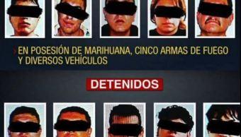 PGJCDMX detiene a 10 con drogas y armas en Coyoacán