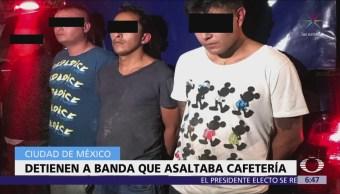 Detienen a 4 asaltantes de cafetería en Eje 5