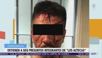Detienen a 6 integrantes del grupo criminal 'Los Aztecas'