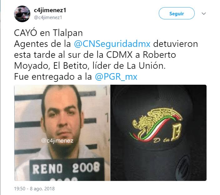"""Captura de """"El Betito"""" obliga a reforzar vigilancia en CDMX"""