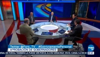 Encuestadores analizan aprobación de gobernadores de México