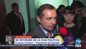 Ernesto Cordero: Voy a defender mi derecho a militar