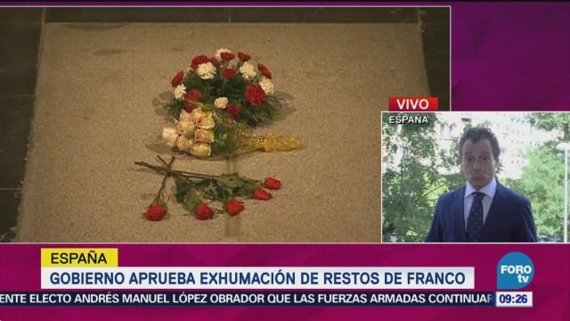 España Aprueba Exhumación Restos Franco