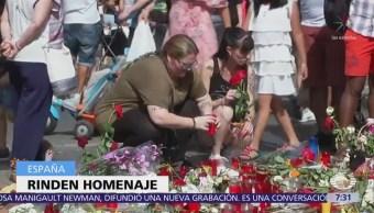 España rinde homenaje víctimas de ataque yihadista Cataluña