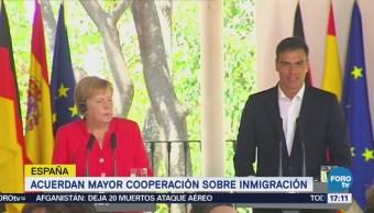 España Alemania Acuerdan Cooperación Inmigración Europea