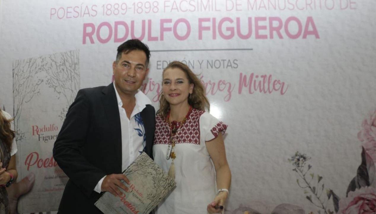 esposa amlo presenta libro poeta rodulfo figueroa
