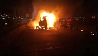camara seguridad capta explosion pipa cargada combustible toluca