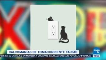 Extra Extra, El Reporñero Calcomanías Tomacorriente Falsas Bromistas Estados Unidos Miami