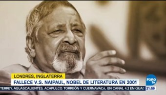 Fallece V.S. Naipaul, Nobel Literatura 2001