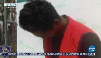 Fiscalía Chihuahua Presenta Supuesto Asesino Menor Rafita