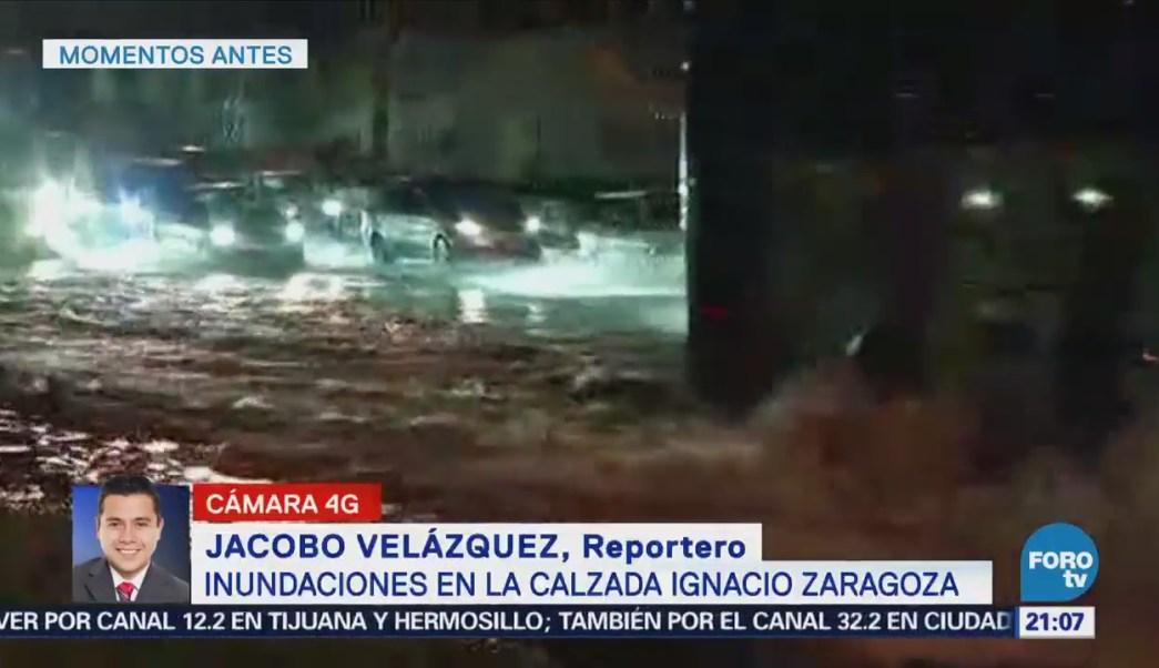 Fuerte Lluvia Causa Inundaciones CDMX Encharcamientos