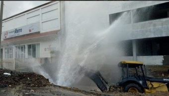 Fuga Agua Veracruz hoy; suspenderán suministro