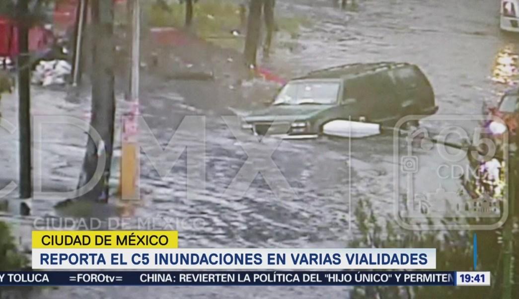 Lluvia Encharcamientos Delegaciones Cdmx Inundaciones Sábado