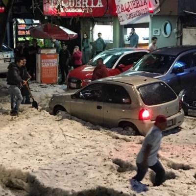 Granizada afecta tránsito en Huixquilucan y Naucalpan, Edomex