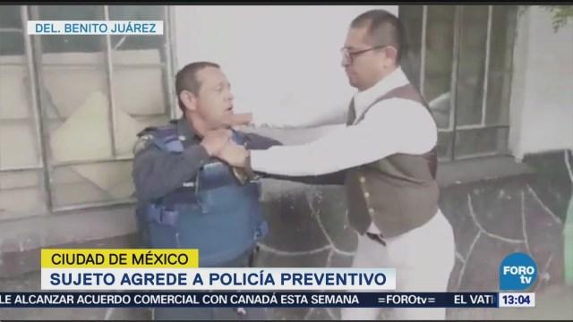 Hombre Que Agredió A Policía De La Cdmx Ciudad De México Vinculado A Proceso Redes Sociales Hombre Que Agredió A Policía En Redes Sociales Conflicto Vecinal