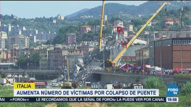 Aumenta Número Víctimas Colapso Puente Italia Génova