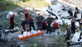 Identifican a 19 muertos por derrumbe de puente en Italia