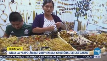 Inauguran Expo Ámbar 2018 Chiapas Artesanos Arte