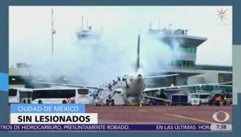 Incendios afectan dos aviones comerciales Guadalajara y CDMX