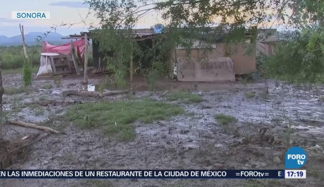 Labores Limpieza Desbordamiento Represo Ortiz Sonora
