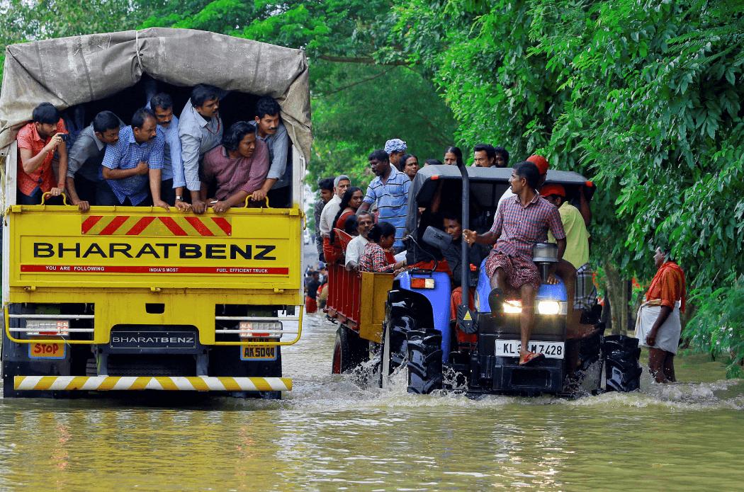 Inundaciones en India. (AP)