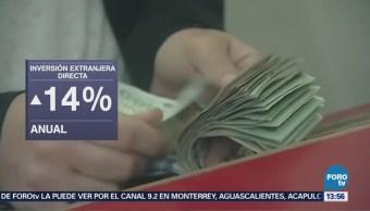 Inversión extranjera directa sube 14 en primer semestre