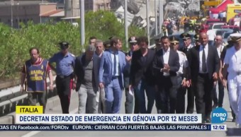 Italia decreta estado de emergencia en Génova