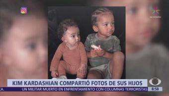 Kim Kardashian comparte fotos de sus hijos en Instagram