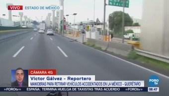 Liberan la circulación de la autopista México-Querétaro, luego de accidente