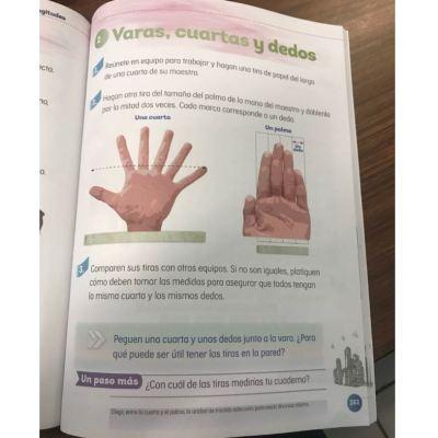 Libro de texto de la SEP publica mano con seis dedos