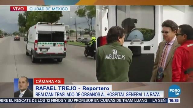 Llevan órganos para trasplantes al Hospital La Raza