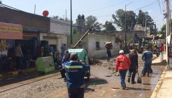 Lluvia en Chimalhuacán deja dos muertos y varios heridos