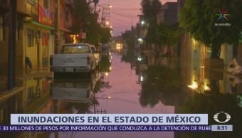 Lluvia en Nezahualcóyotl provoca inundaciones