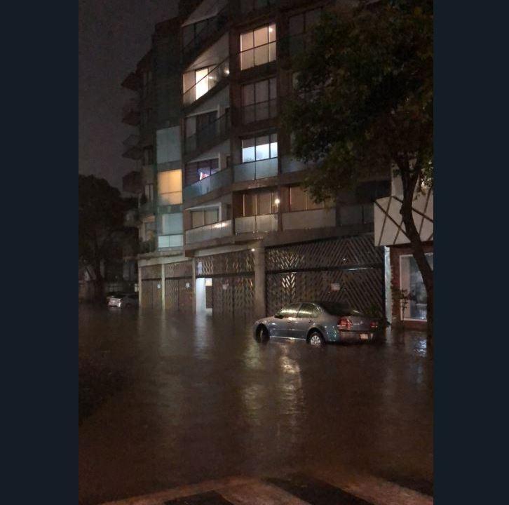 lluvia provoca encharcamientos nueve delegaciones cdmx