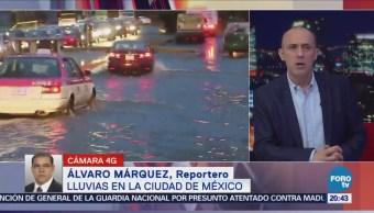 Lluvias Ciudad De México Genera Encharcamientos
